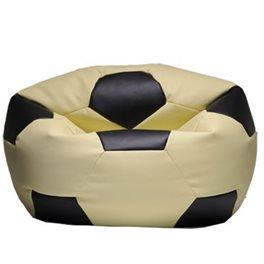 Кресло-мешок Мяч кремово-черный