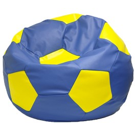 Кресло-мешок Мяч Мега сине-желтый