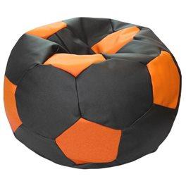 Кресло-мешок Мяч Стандарт черно-оранжевое