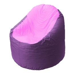 Кресло-мешок Bravo сиреневое, сидушка розовая
