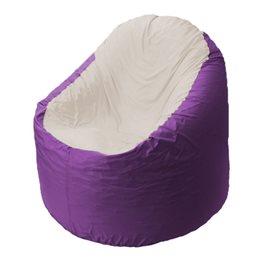 Кресло-мешок Bravo сиреневое, сидушка слоновая кость