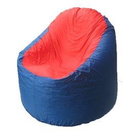 Кресло-мешок Bravo синее, сидушка красная