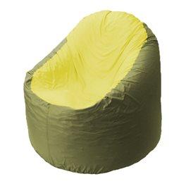 Кресло-мешок Bravo оливковое, сидушка желтая