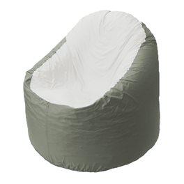 Кресло-мешок Bravo серое, сидушка белая