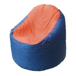 Кресло-мешок Bravo синее, сидушка оранжевая
