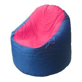Кресло-мешок Bravo синее, сидушка малиновая