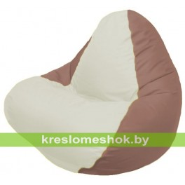 Кресло-мешок RELAX коричневое, сидушка белая