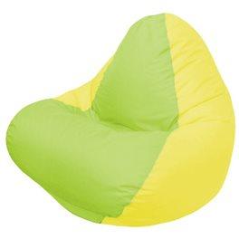 Кресло-мешок RELAX жёлтое, сидушка сатовая