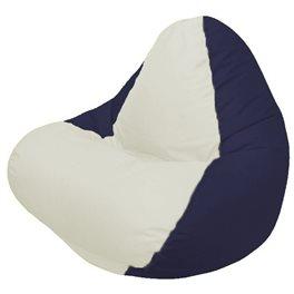 Кресло-мешок RELAX тёмно-синее, сидушка светло-бежевая