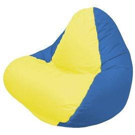 Кресло-мешок RELAXсинее, сидушка жёлтая