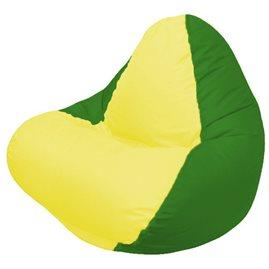 Кресло-мешок RELAX зелёное, сидушка жёлтая