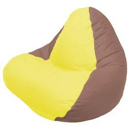 Кресло-мешок RELAX коричневое, сидушка жёлтая