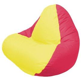 Кресло-мешок RELAX красное, сидушка жёлтая