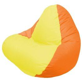 Кресло-мешок RELAX оранжевое, сидушка жёлтая