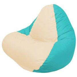 Кресло-мешок RELAX бирюзовое, сидушка розовая