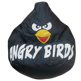 Кресло-мешок Груша Черная птичка оксфорд (80 x 120 см)