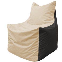 Кресло-мешок Фокс Ф 21-130 (слоновая кость - чёрный)