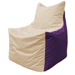 Кресло-мешок Фокс Ф 21-132 (слоновая кость - фиолетовый)