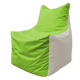 Кресло-мешок Фокс Ф 21-183 (салатовый - белый)