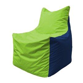 Кресло-мешок Фокс Ф 21-184 (салатовый - тёмно-синий)