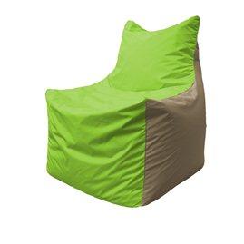 Кресло-мешок Фокс Ф 21-186 (салатовый - бежевый)