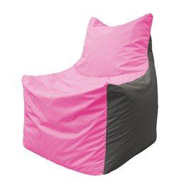 Кресло-мешок Фокс Ф 21-187 (розово-серый)
