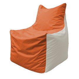Кресло-мешок Фокс Ф 21-189 (оранжево-белый)