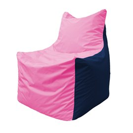 Кресло-мешок Фокс Ф 21-192 (розовый - тёмно-синий)