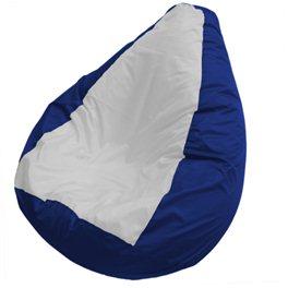 Кресло-мешок Груша Макси  бело-синее