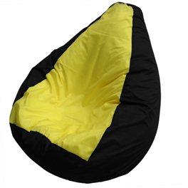 """Кресло-мешок """"Груша Макси"""" Черный Лимон"""