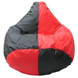 Кресло-мешок Груша Макси черно-красное