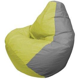 Кресло-мешок Груша Макси Серый лайм