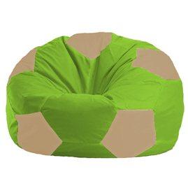 Бескаркасное кресло-мешок Мяч салатово - светло-бежевое 1.1-162