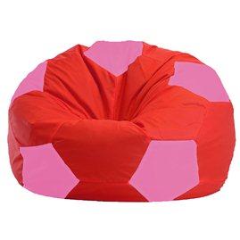 Бескаркасное кресло-мешок Мяч красно - розовое 1.1-175