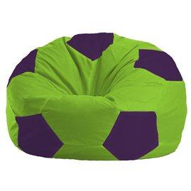 Бескаркасное кресло-мешок Мяч салатово - фиолетовое 1.1-155