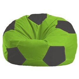 Бескаркасное кресло-мешок Мяч салатово - тёмно-серое 1.1-156