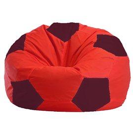 Бескаркасное кресло-мешок Мяч красно - бордовое 1.1-180