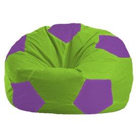 Бескаркасное кресло-мешок Мяч салатово - сиреневое 1.1-158