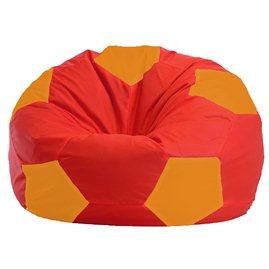 Бескаркасное кресло-мешок Мяч красно - оранжевое 1.1-176