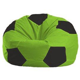 Бескаркасное кресло-мешок Мяч салатово - чёрное 1.1-153