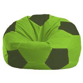 Бескаркасное кресло-мешок Мяч салатово - тёмно-оливковое 1.1-157