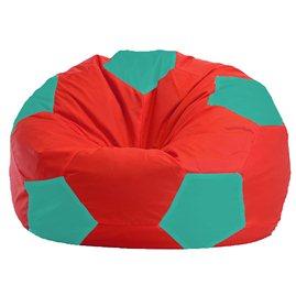 Бескаркасное кресло-мешок Мяч красно - бирюзовое 1.1-182