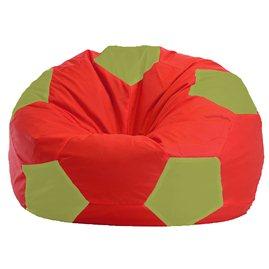 Бескаркасное кресло-мешок Мяч красно - оливковый