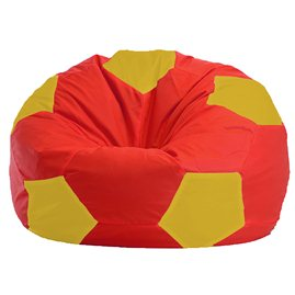 Бескаркасное кресло-мешок Мяч красно - жёлтое 1.1-178