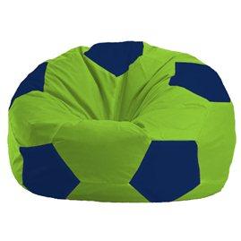 Бескаркасное кресло-мешок Мяч салатово - тёмно-синее 1.1-159