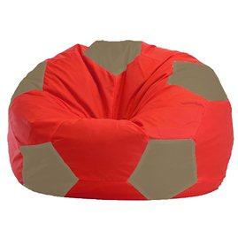 Бескаркасное кресло-мешок Мяч красно - бежевое 1.1-171