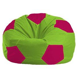 Бескаркасное кресло-мешок Мяч салатовый - фуксия 1.1-154