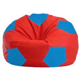 Бескаркасное кресло-мешок Мяч красно - голубое 1.1-179