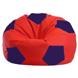 Бескаркасное кресло-мешок Мяч красно - тёмно-синее