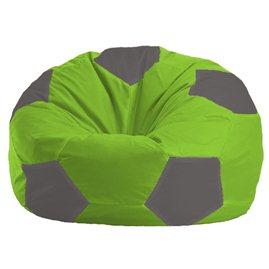 Бескаркасное кресло-мешок Мяч салатово - светло-серое 1.1-160